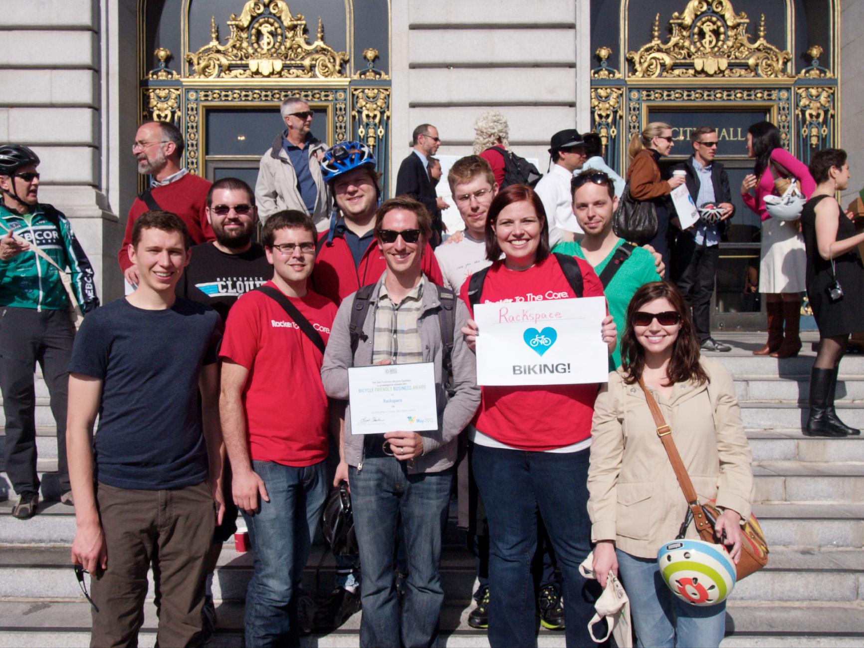 san francisco rackspace office. San Francisco Rackers Celebrate Bike To Work Day Rackspace Office